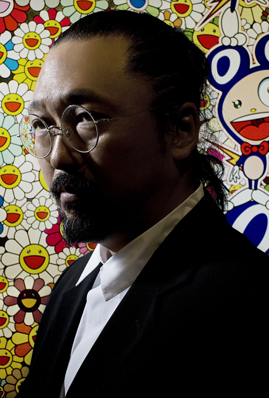 TAKASHI MURAKAMI, JEUX DE FLEURS, JAPANESE ARTIST, STEVE BENISTY, PORTRAIT, VIDEO, GAGOSIAN GALLERY, WHITEWALL, WHITEWALL COVER, FLOWERS, SPIRITED FLOWERS, SMILING FLOWERS