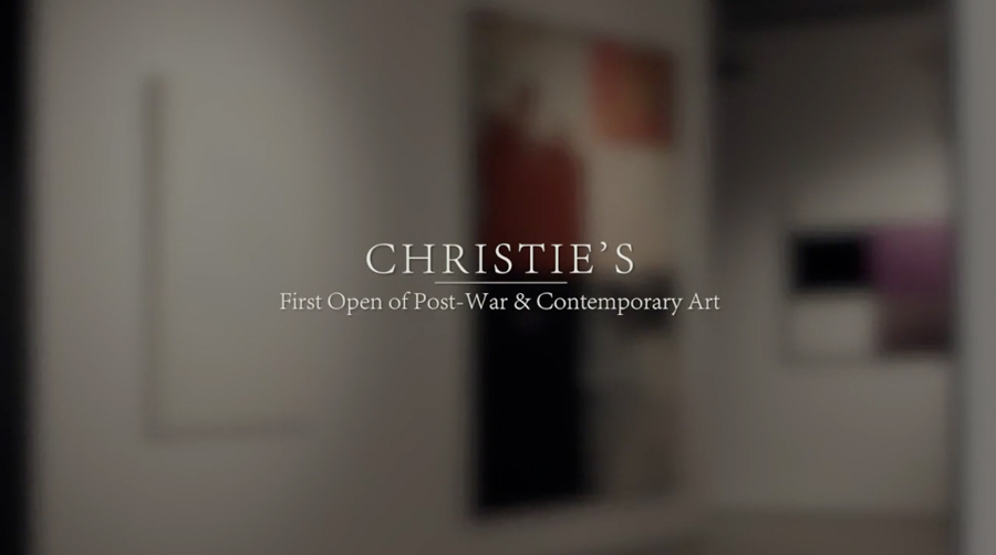 CHRISTIE'S, FIRST OPEN OF POST-WAR AND CONTEMPORARY ART